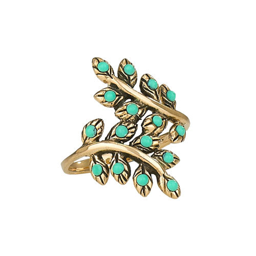Turquoise Branch Ring, $24 | Bronze & Stone | Light Years Jewelry