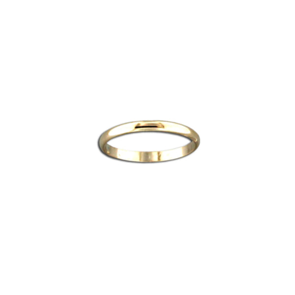 Rounded Gold Filled Band | Size 6 7 8 9 Ring | Light Years Jewelry