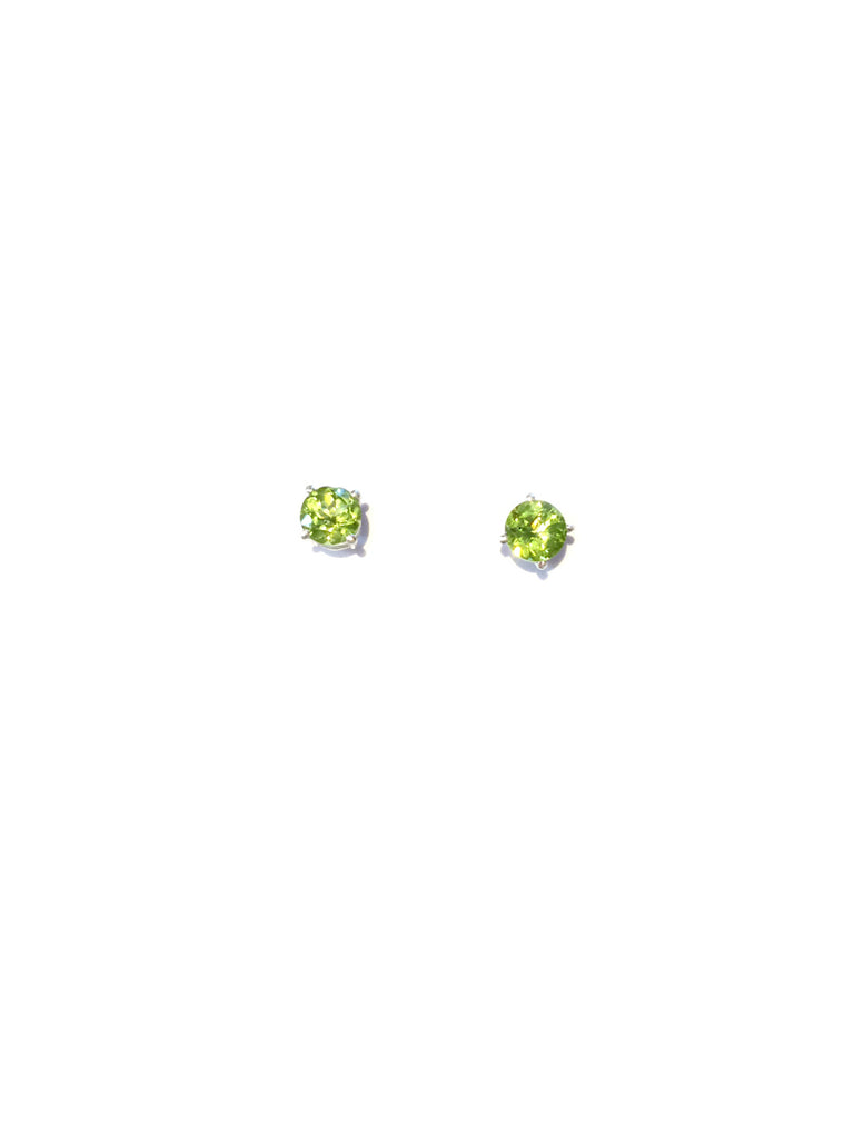 Genuine Stone Posts | Peridot | Sterling Silver Gemstone Earrings | Light Years