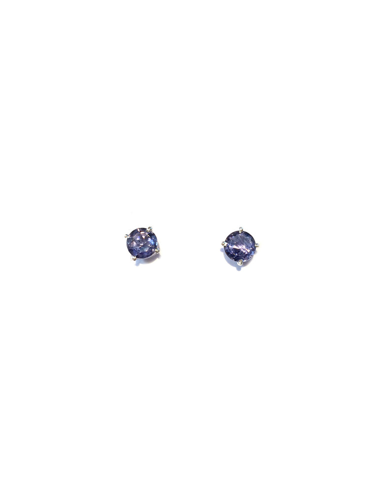 Genuine Stone Posts | Iolite | Sterling Silver Gemstone Earrings | Light Years