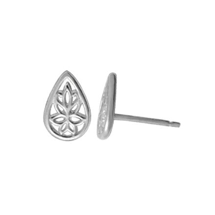 Floral Teardrop Posts | Sterling Silver Stud Earrings | Light Years