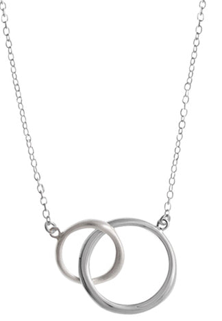 Double Ring Necklace, $36 | Sterling Silver | Light Years Jewelry