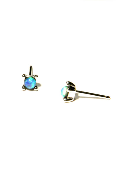 Sterling Silver or Vermeil Prong-Set Opal Posts, $15 | Light Years Jewelry