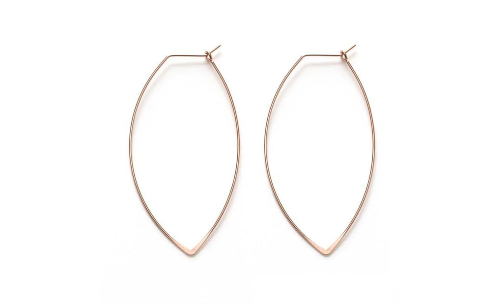 Marquis Hoop Earrings | Silver, Gold, Rose Gold | Light Years Jewelry