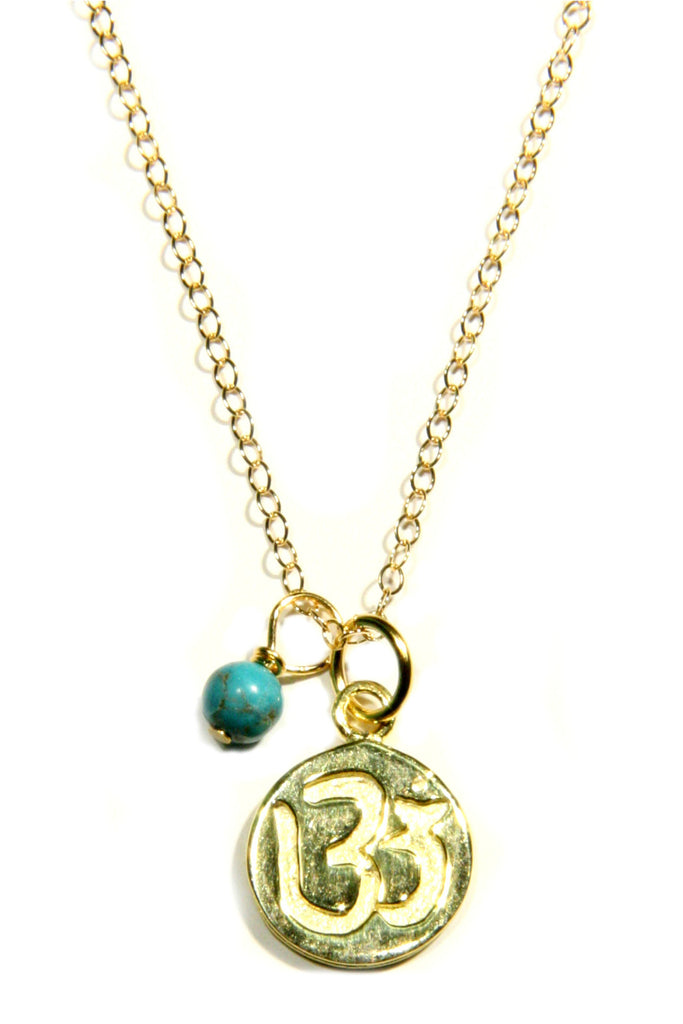 Gold-Filled Stamped Om Necklace, $32 | Light Years Jewelry