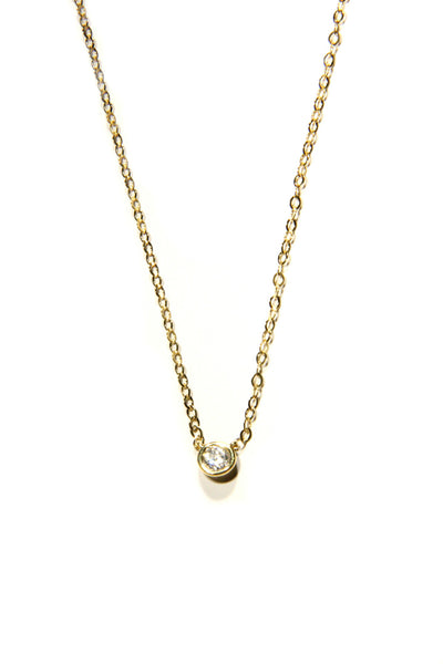Single CZ Necklace, $18 | Silver or Gold | Light Years Jewelry