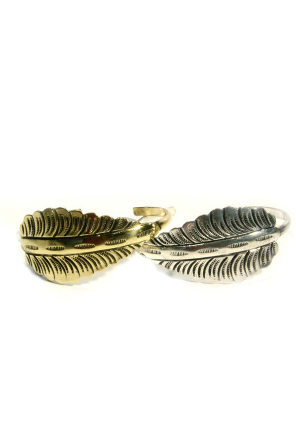 Leaf Cuff Bracelet, $14 | Choice of Silver or Gold | Light Years Jewelry