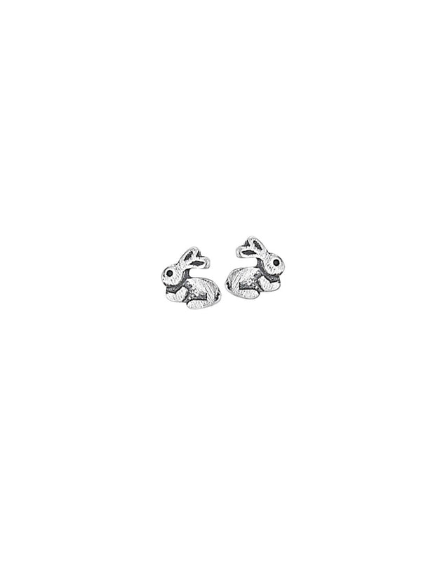Tiny Bunny Rabbit Posts | Sterling Silver Stud Earrings | Light Years
