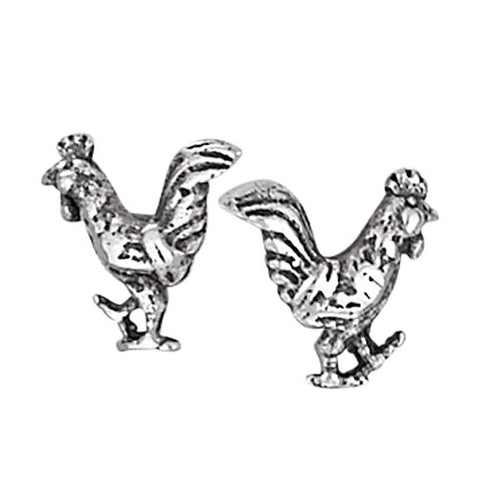 Rooster Studs, $10 | Sterling Silver Earrings | Light Years Jewelry