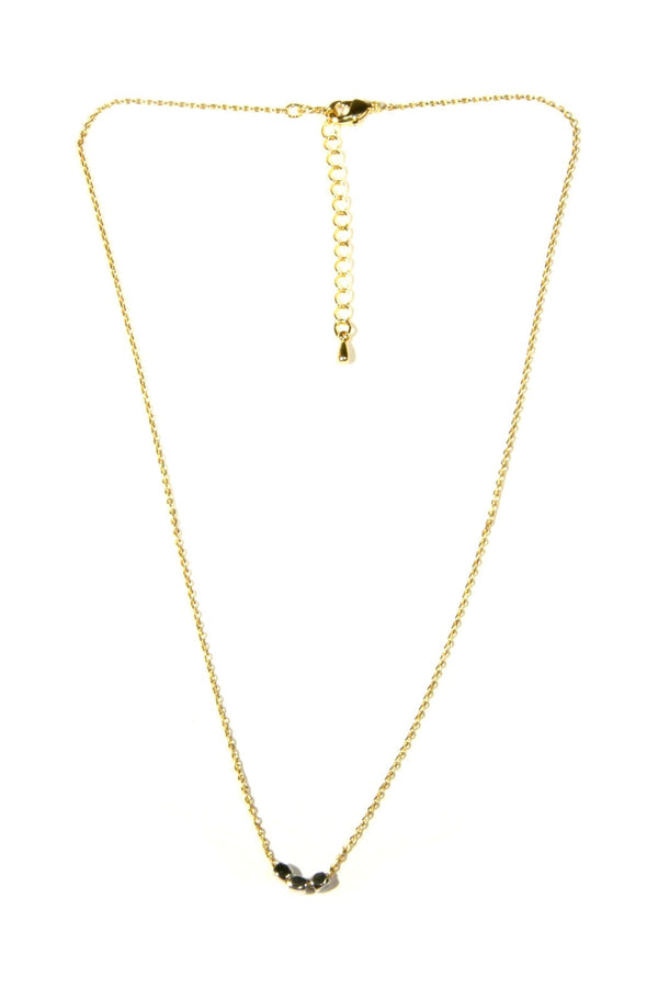 Mini Nugget Necklace, $19 | Gold and Silver | Light Years Jewelry