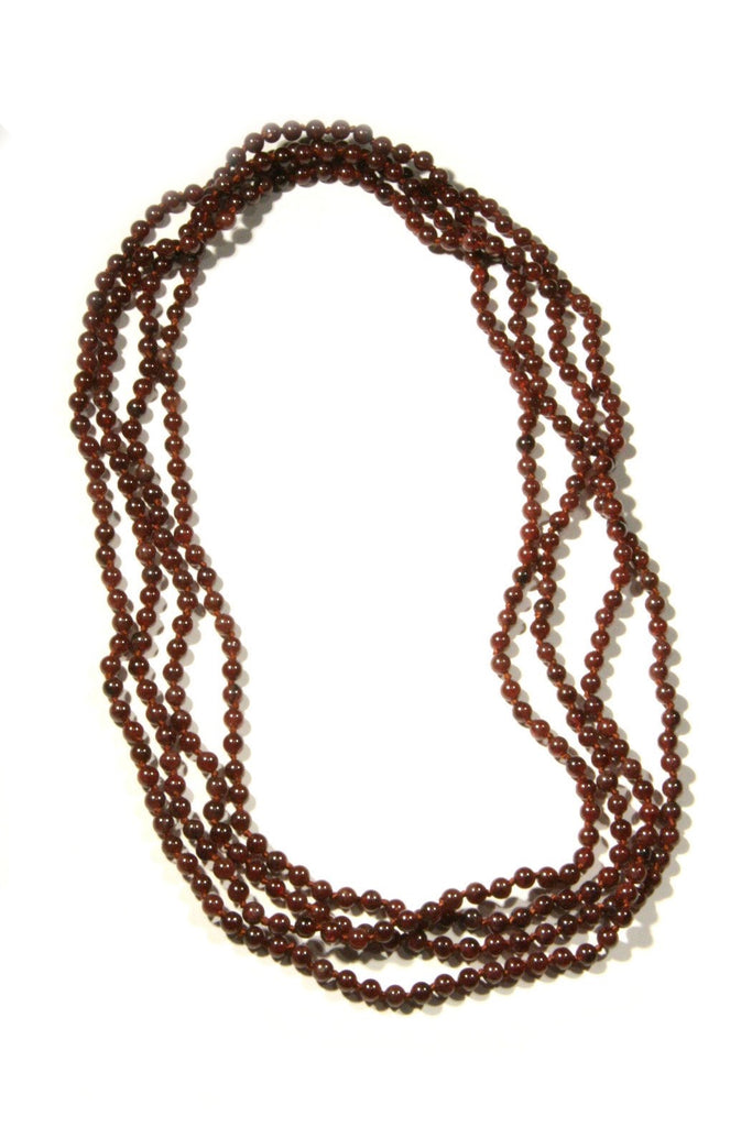 Long Stone Beaded Necklace, $28 | Garnet | Light Years Jewelry