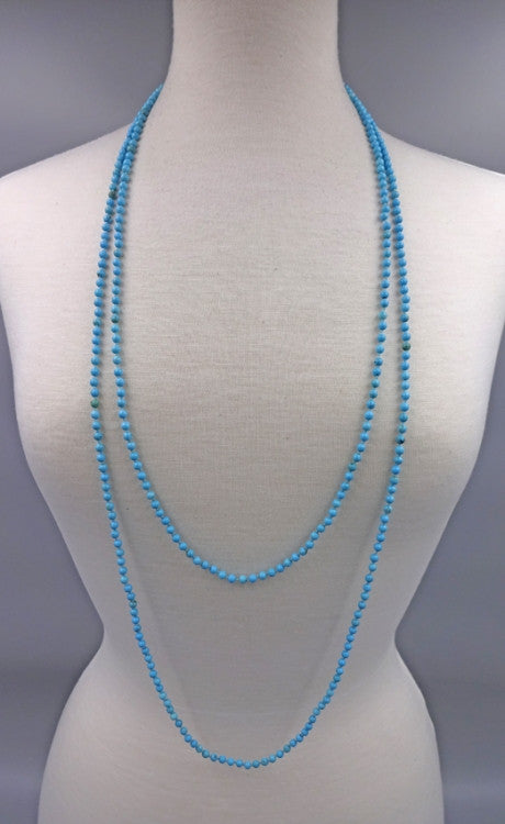 Long Gemstone Beaded Necklace | Turquoise | Light Years Jewelry