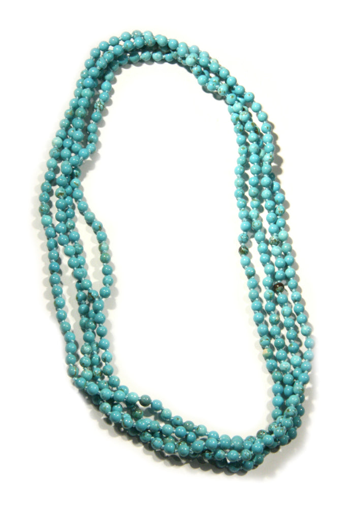 Long Stone Beaded Necklace, $28 | Turquoise | Light Years Jewelry