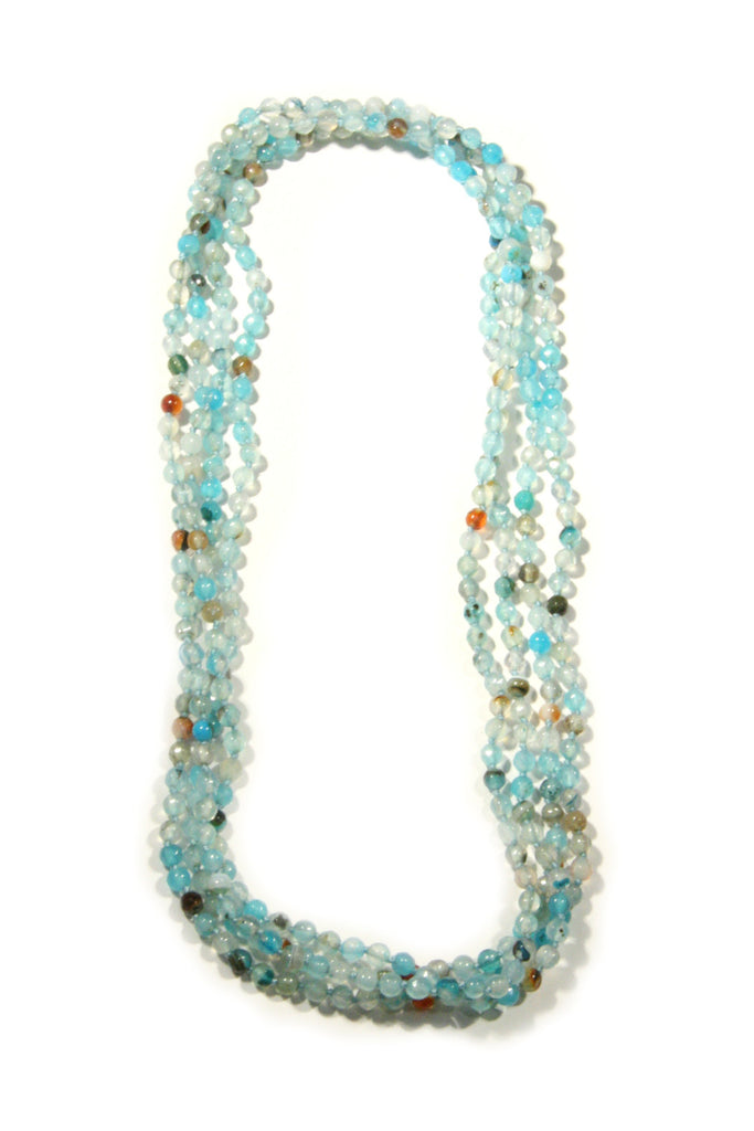 Long Stone Beaded Necklace, $28 | Blue Agate | Light Years Jewelry