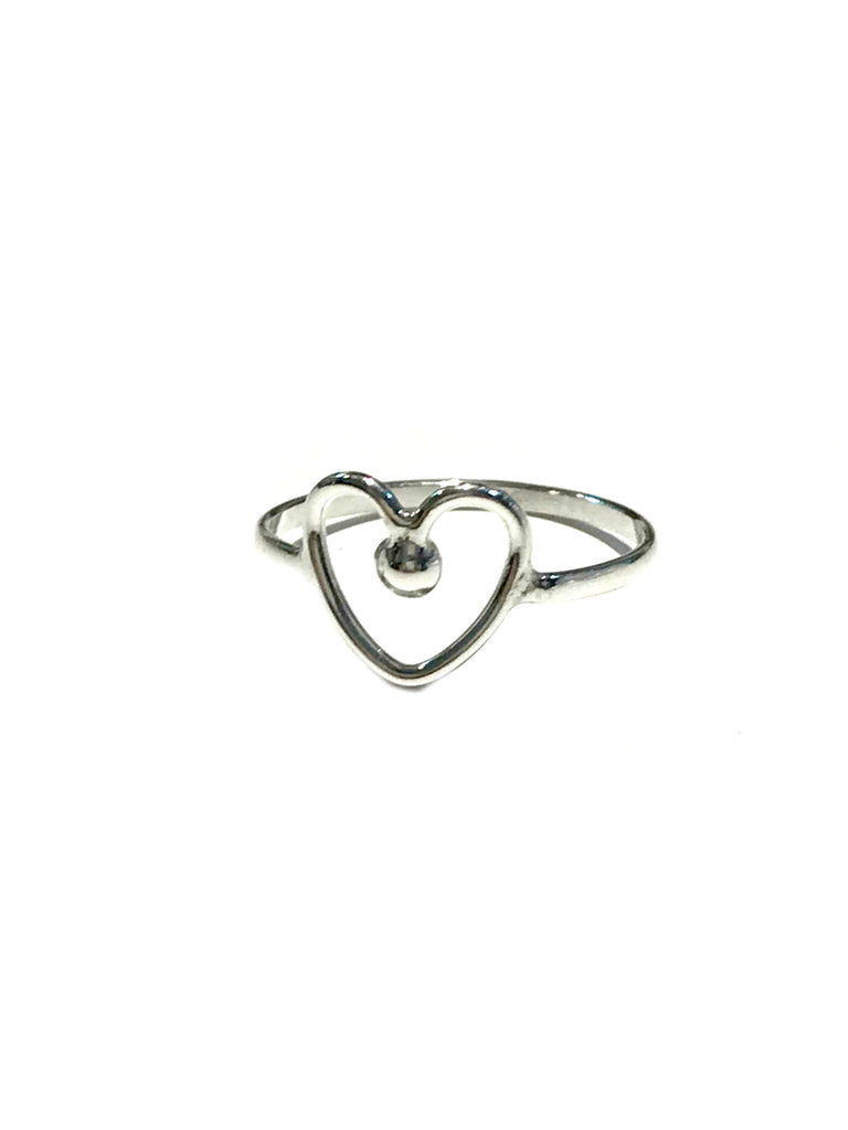 Sweet Heart Ring | Sterling Silver Size 5 6 7 8 9 | Light Years Jewelry