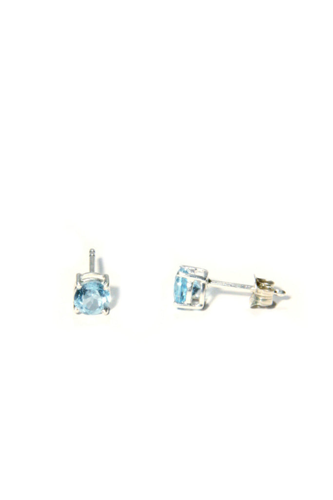 Genuine Stone Posts | Blue Topaz | Sterling Silver Gemstone Earrings | Light Years