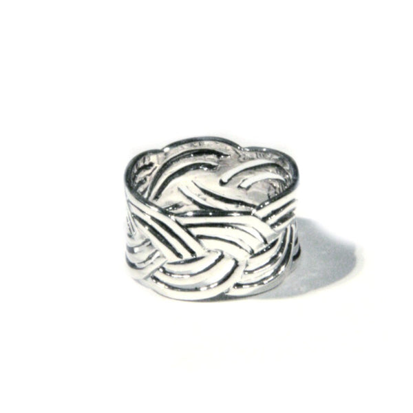Wide Braided Band, $20 | Sterling Silver Ring | Light Years Jewelry