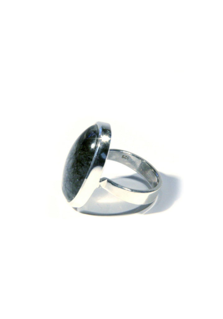 Tourmalinated Quartz Ring, $36 | Sterling Silver | Light Years Jewelry
