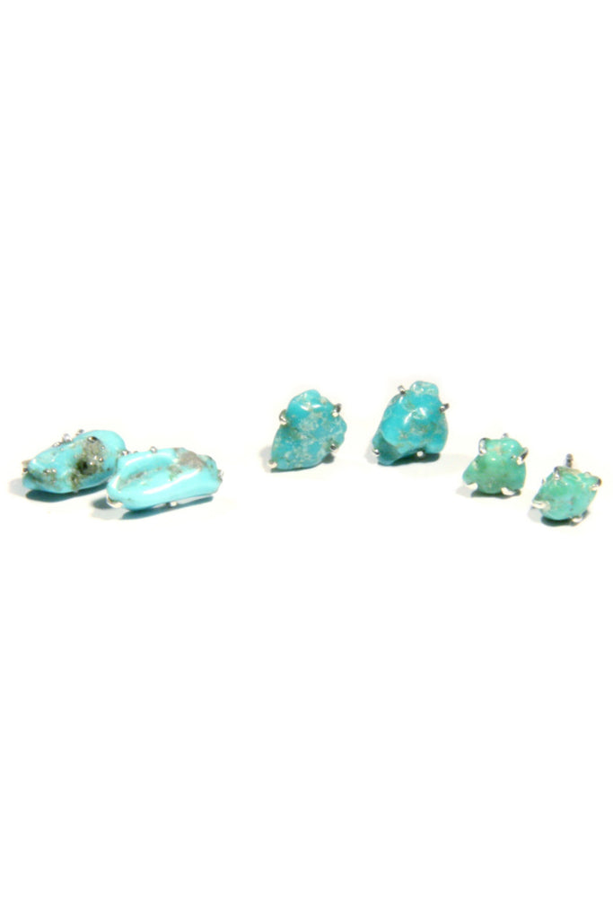 Turquoise Nugget Posts, $14 | Sterling Silver | Light Years Jewelry