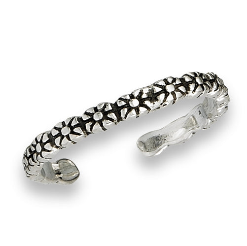 Daisy Chain Toe Ring, $7 | Sterling Silver | Light Years Jewelry