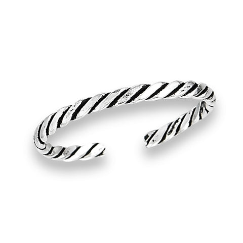 Thin Rope Toe Ring, $7 | Sterling Silver Band | Light Years Jewelry