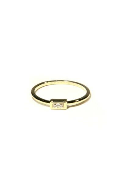 CZ Baguette Ring, $9 | Gold Plated | Light Years Jewelry