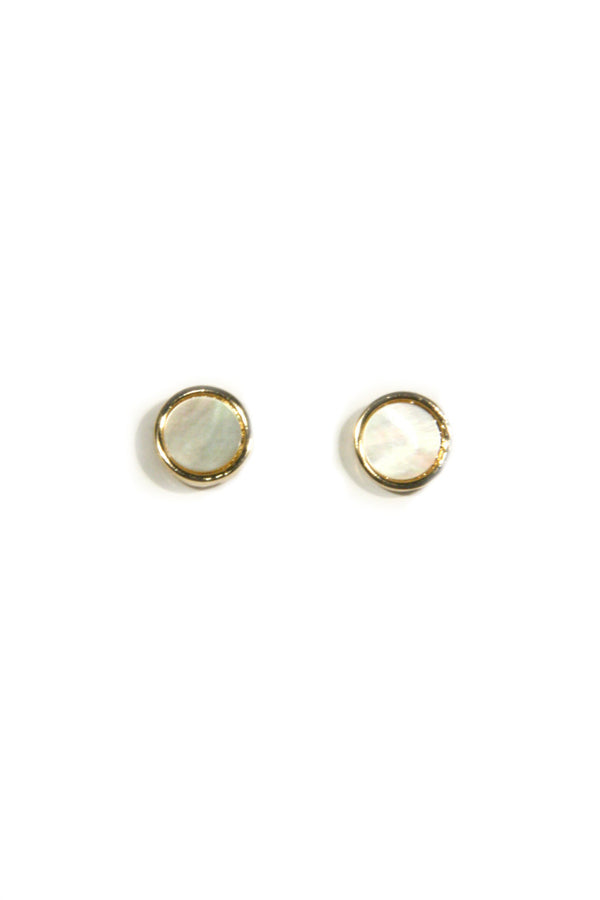 Mother of Pearl Posts, $8 | Gold Plated Earrings | Light Years Jewelry
