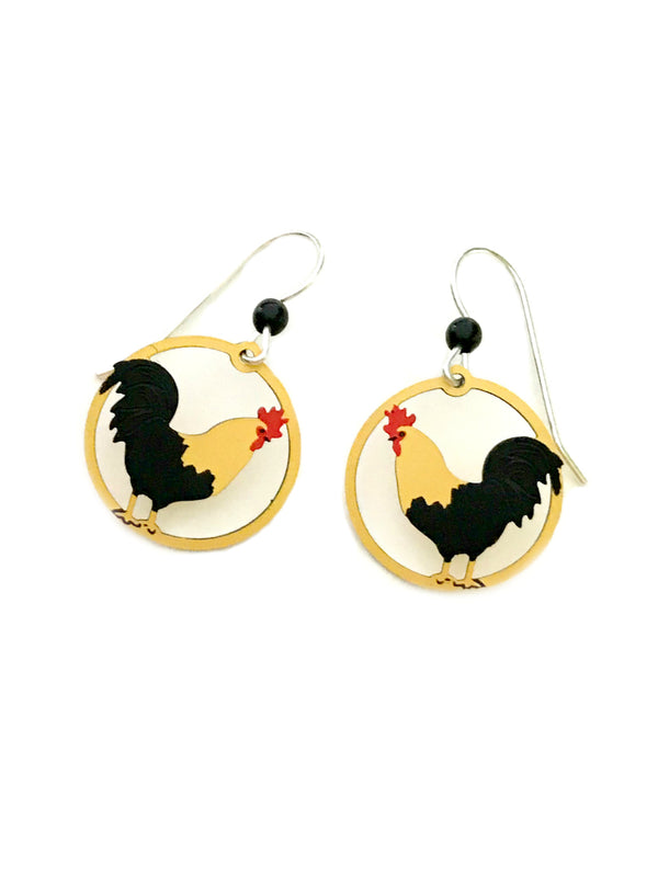 Rooster Dangles by Sienna Sky | Sterling Silver Earrings | Light Years