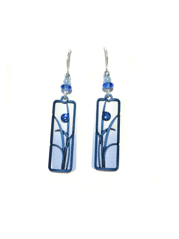 Blue Ombre Column Earrings by Adajio | Sterling Silver | Light Years