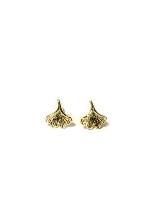 Ginkgo Leaf Posts, $16 | Silver or Gold Studs | Light Years Jewelry