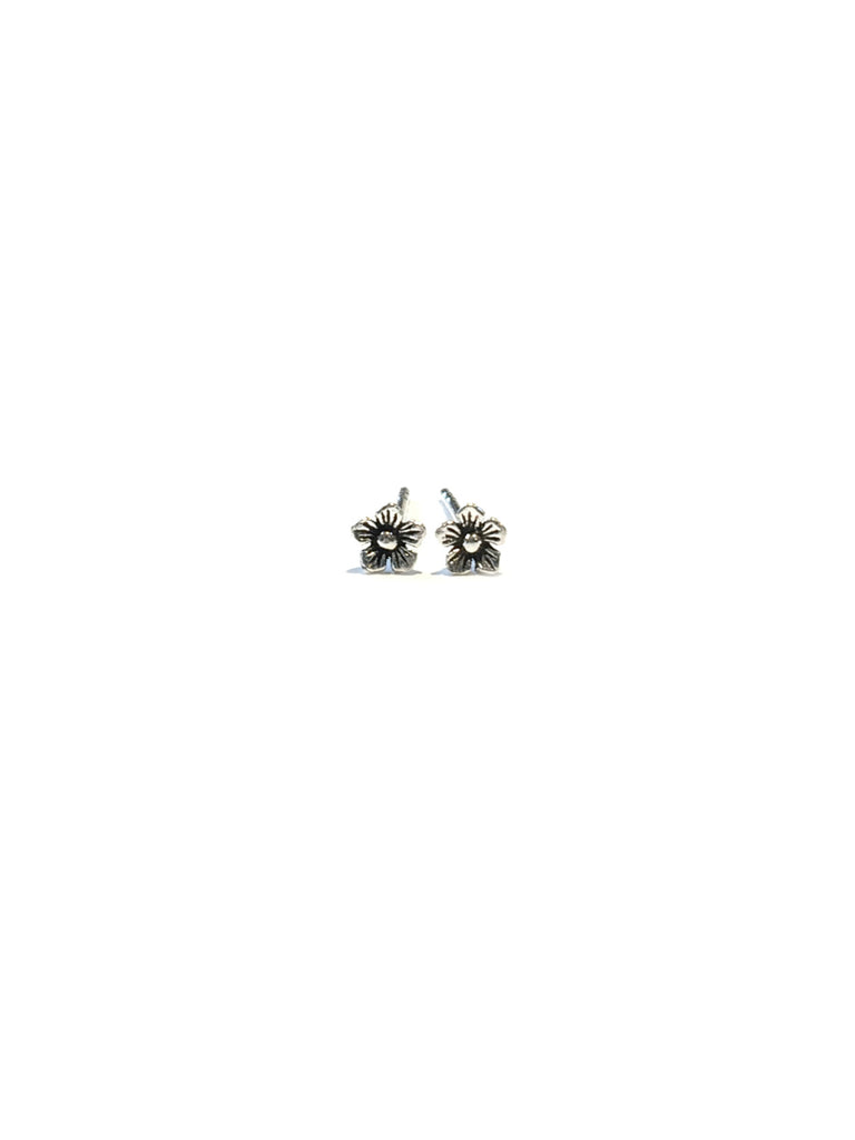 Tiny Flower Stud Earrings | Sterling Silver Posts | Light Years Jewelry