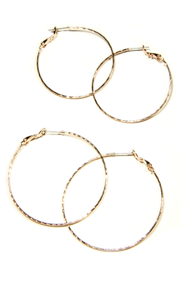 Rose Gold Twisted Pincatch Hoops, $10 | Light Years Jewelry