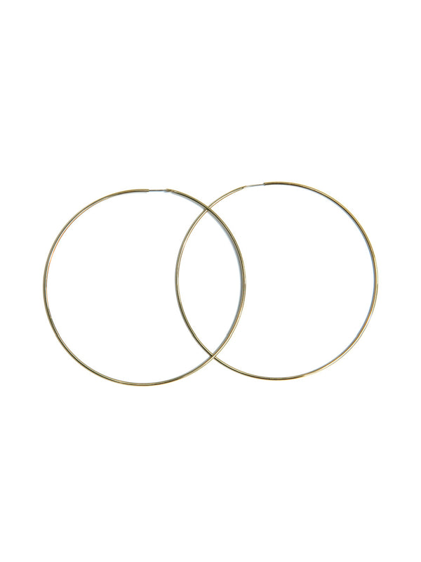 Large Gold Plated Endless Hoops | Fashion Earrings | Light Years Jewelry