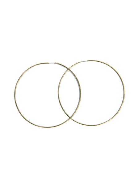 Large Thin Endless Hoops, $9 | Gold Plated | Light years Jewelry