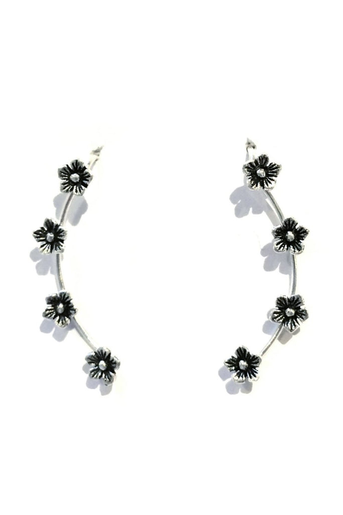 Flower Ear Climber, $15 | Sterling Silver Earring | Light Years Jewelry