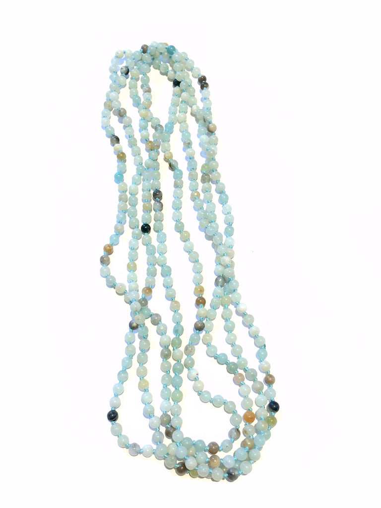 Long Gemstone Beaded Necklace | Amazonite | Light Years Jewelry