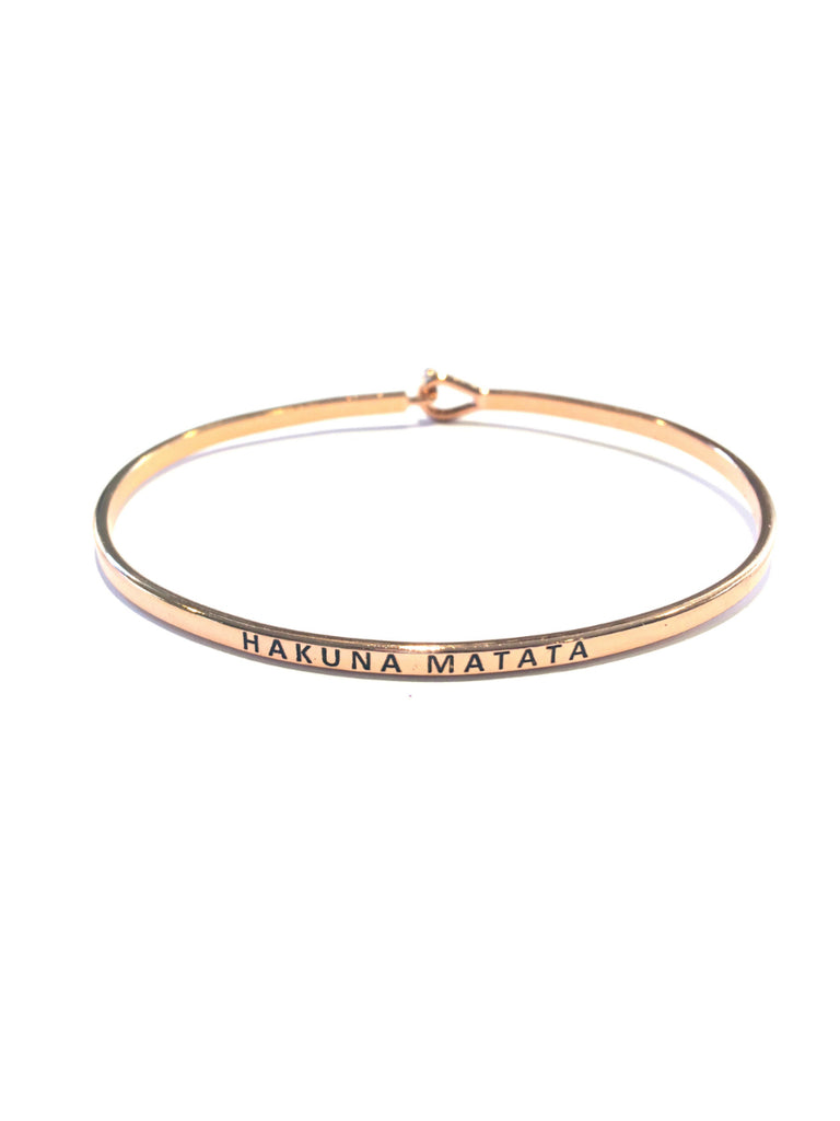"""Hakuna Matata"" Quote Bracelet 