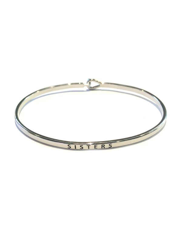 """Sisters"" Stamped Bracelet 