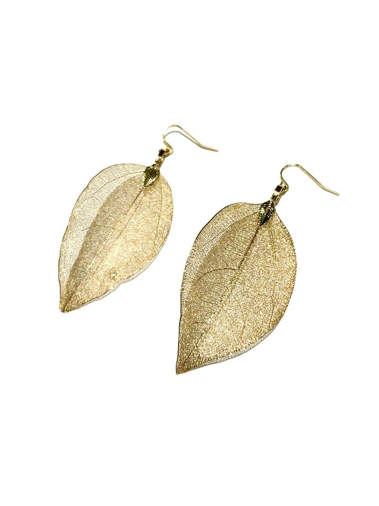 Long Leaf Statement Earrings | Gold Fashion | Light Years Jewelry