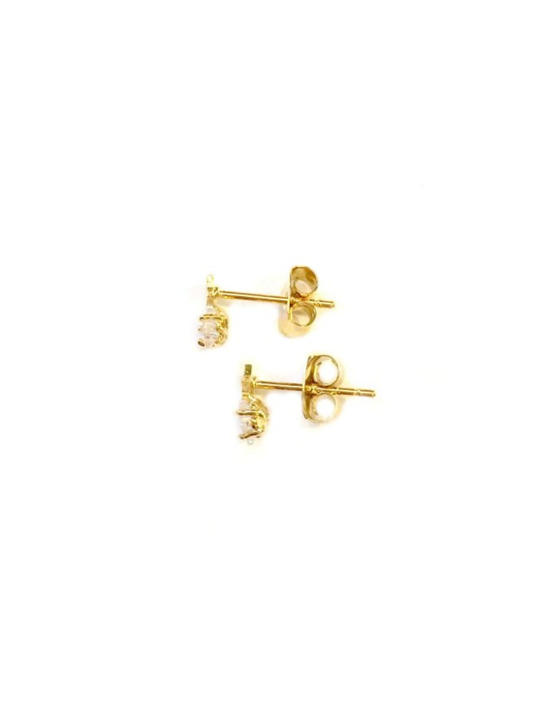 Star and CZ Post Earrings | Gold or Silver Plated | Light Years Jewelry