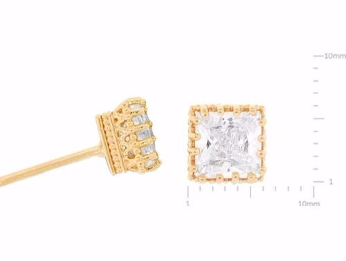 Bordered CZ Posts, $9 | Gold, Silver, Rose Gold Studs | Light Years
