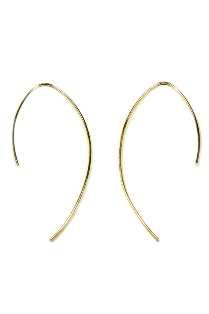 Silver, Gold, Rose Gold Curved Ear Thread, $15 | Light Years Jewelry