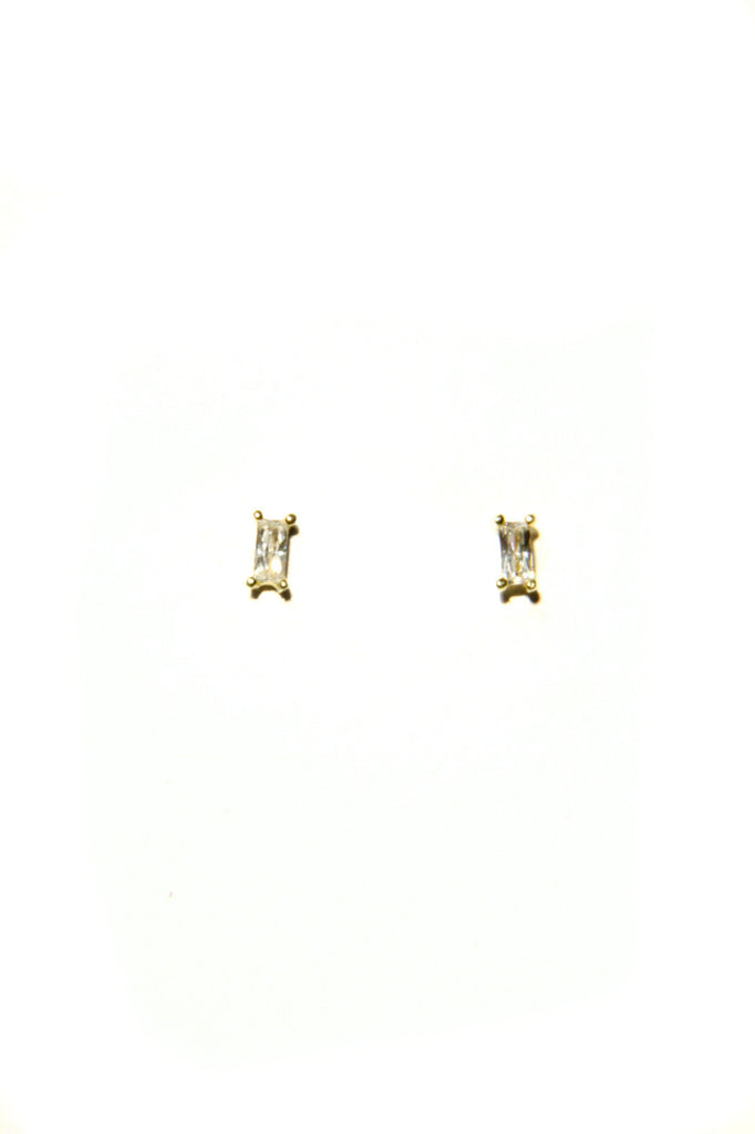 CZ Baguette Posts, $10 | Silver, Gold, Rose Gold | Light Years Jewelry