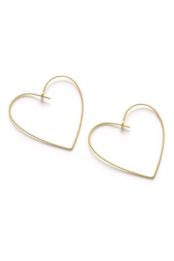 Heart Hoops Earrings | Gold and Rose Gold Plated | Light Years Jewelry