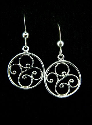 Open Swirl Dangles, $18 | Sterling Silver, Rose Gold | Light Years