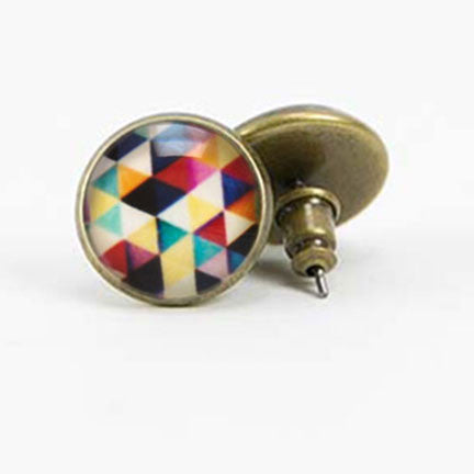 Beijo Brasil Brass Kaleidoscope Posts, $14 | Light Years Jewelry