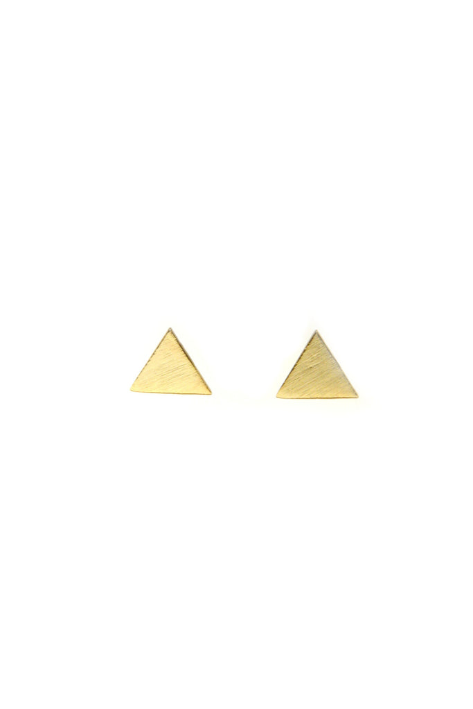 Brushed Triangle Posts, $8 | Sterling Silver Stud | Light Years Jewelry