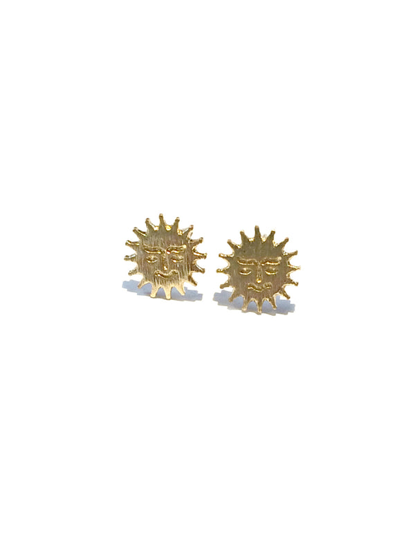 Golden Sun Posts | Sterling Silver Studs Earrings | Light Years Jewelry