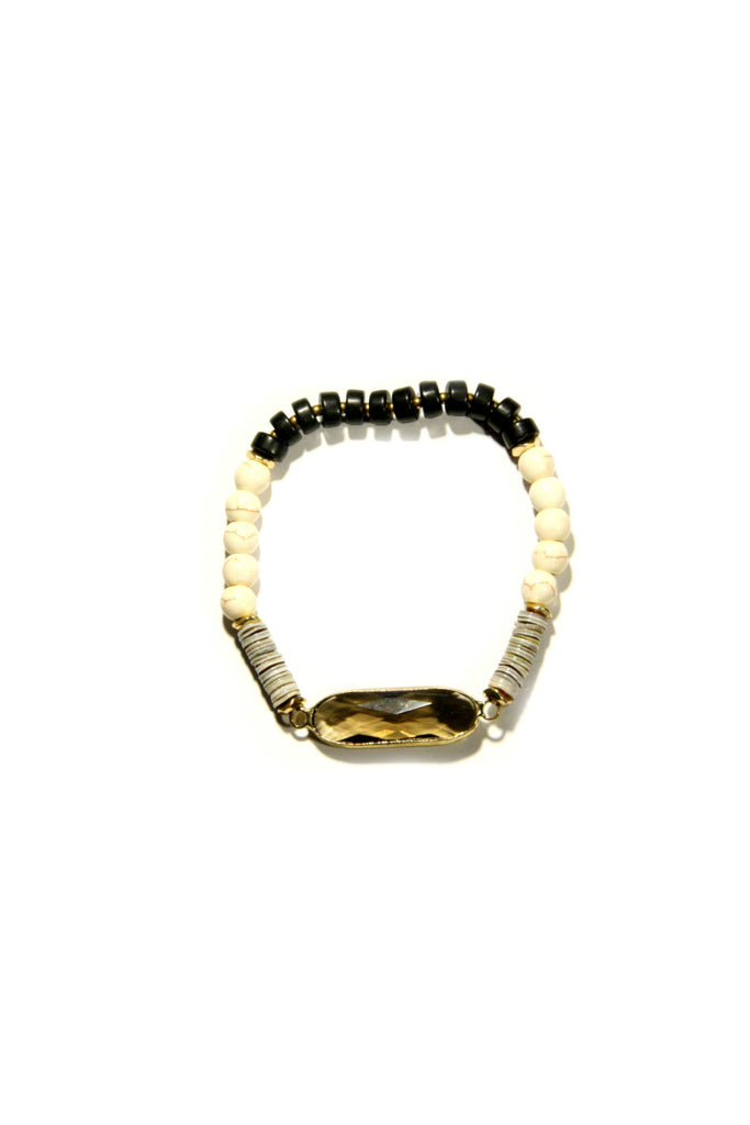 Multi Stone Bracelet, $11 | Brown or Black | Light Years Jewelry