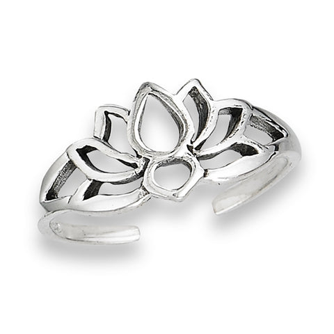 Open Lotus Toe Ring, $8 | Sterling Silver | Light Years Jewelry